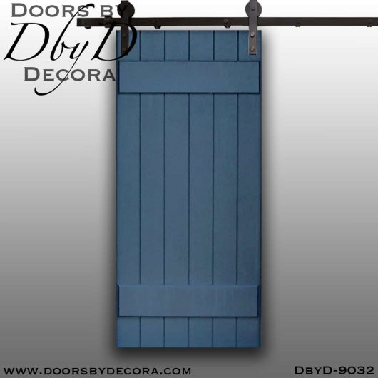 specialty painted plank barn door