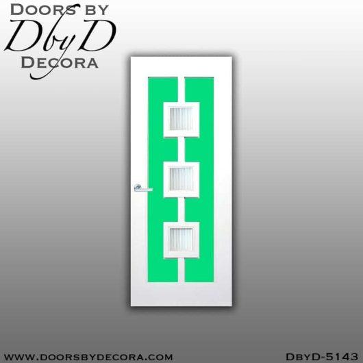 modern 3 lite door