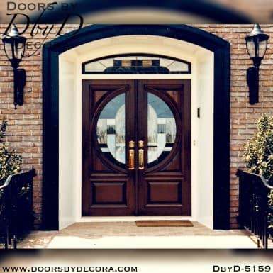 modern round lite door with transom