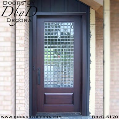 modern 1-lite leaded glass door