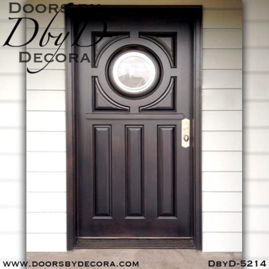 modern door with round glass