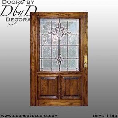 estate leaded glass oak door