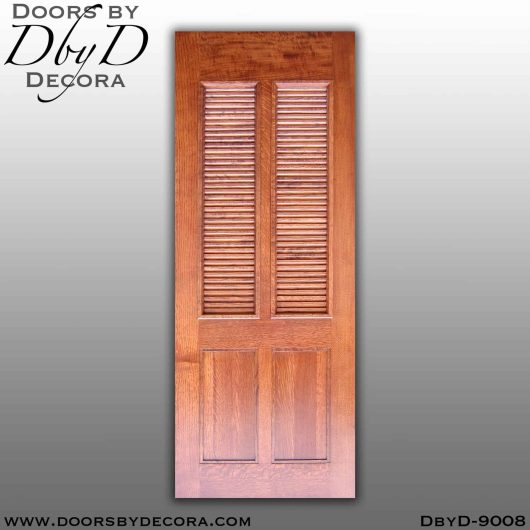specialty louvered interior barn door