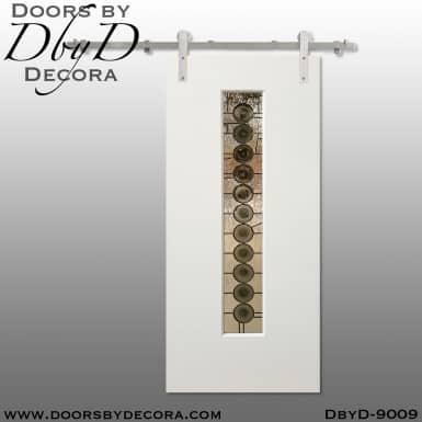 specialty glass interior barn door