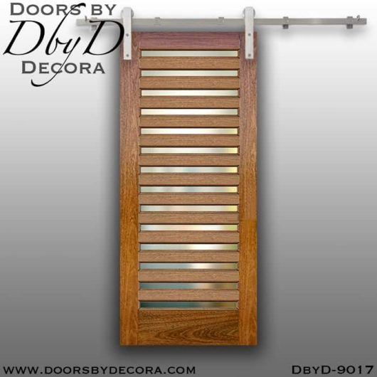 specialty 14-lite interior barn door