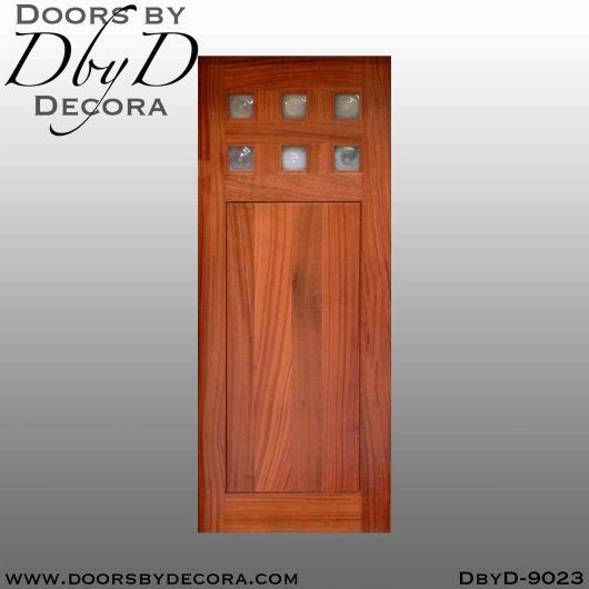 specialty 6-lite interior barn door