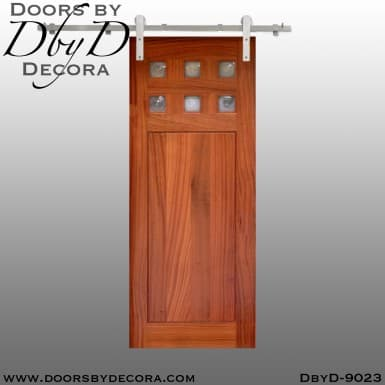 specialty 6-lite interior barn door