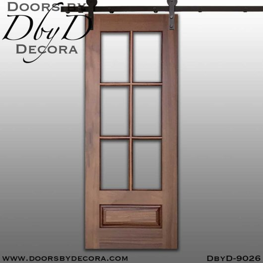 specialty 6-lite tdl interior barn door