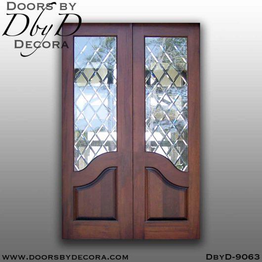 specialty interior glass double barn doors