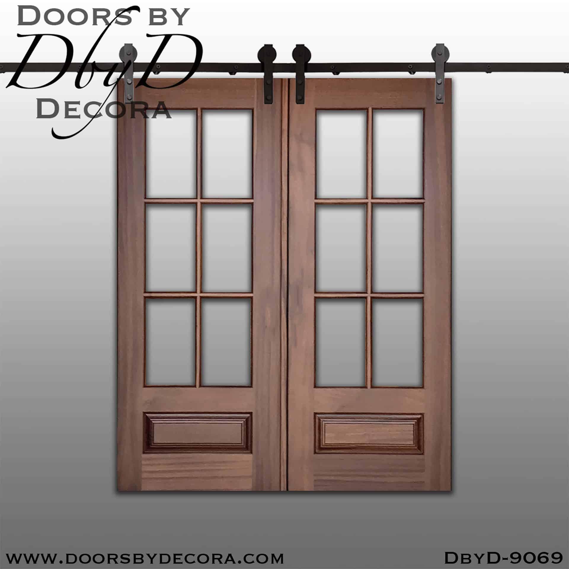 Custom Specialty Tdl Double Barn Doors Solid Wood Doors By Decora
