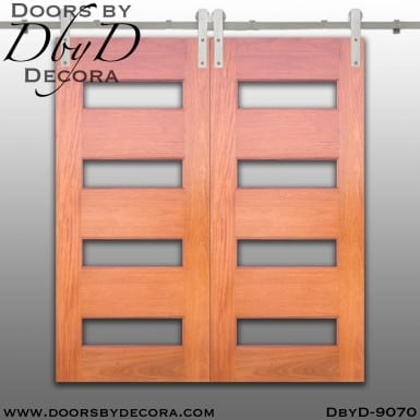 specialty 4-lite double barn doors