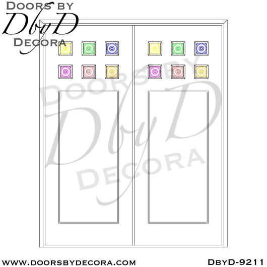 specialty 6-lite double barn doors