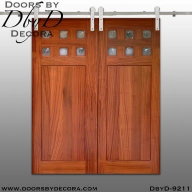specialty 6-lite double barn doors