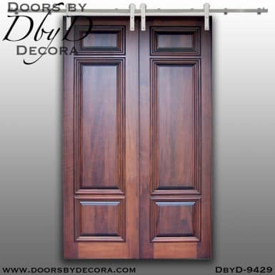 specialty solid wood double barn doors