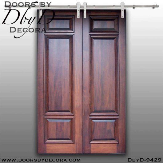 specialty solid wood double barn doors