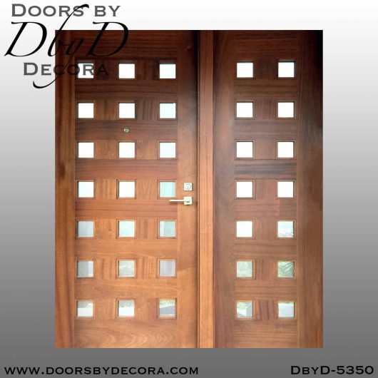 modern 21-lite wood door