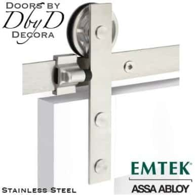 emtek modern barn door hardware