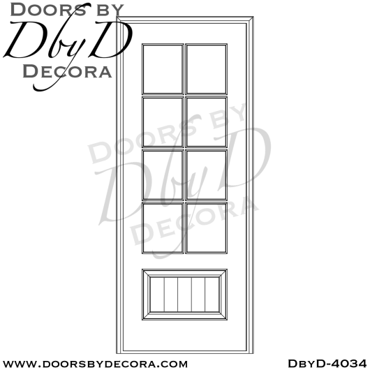 craftsman 8-lite tdl door