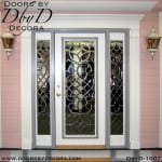 leaded glass leaded beveled glass door