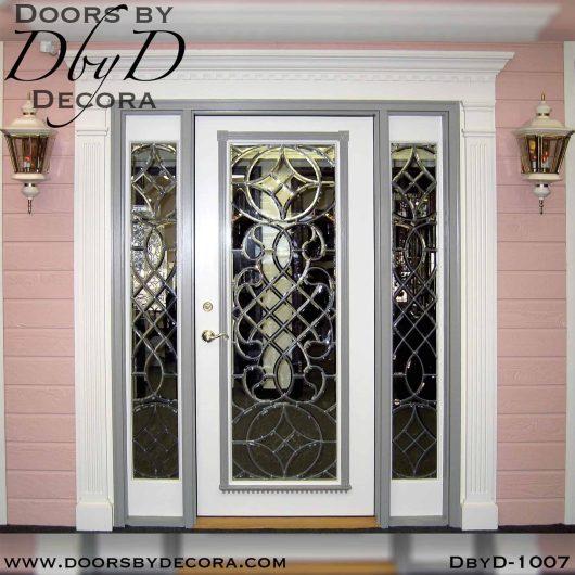 leaded glass leaded beveled glass door