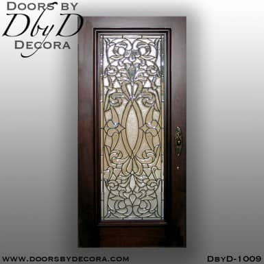 leaded glass front door