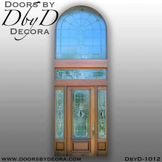 leaded glass entry