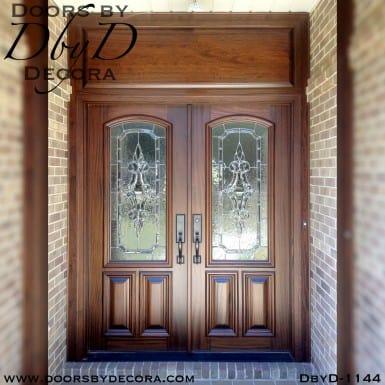 leaded glass double doors