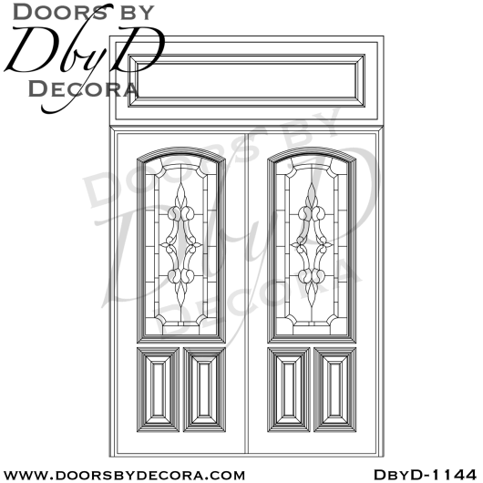 leaded glass double doors