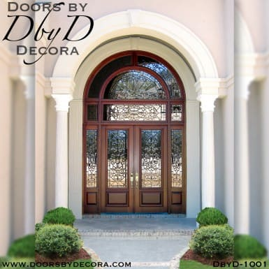 leaded glass grand entrance