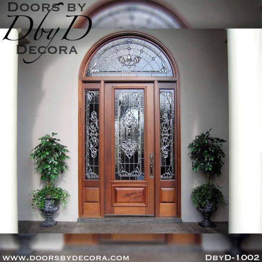 leaded glass front door unit