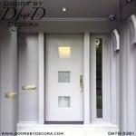 modern door with simple glass