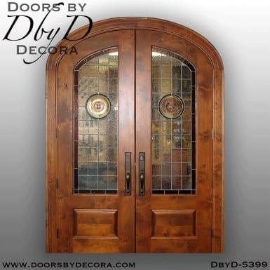 modern elliptical double doors