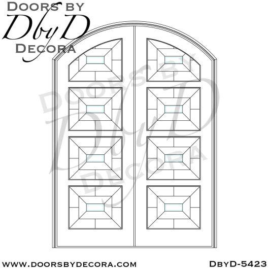 modern double doors