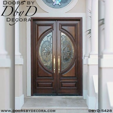 modern double doors with glass