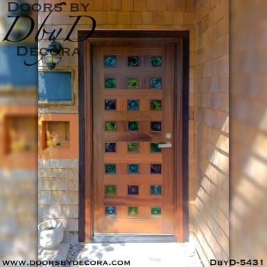 modern colorful front door