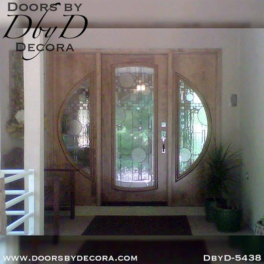 modern door and sidelites