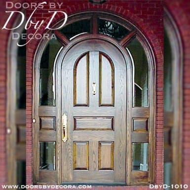 solid door with wraparound sidelites