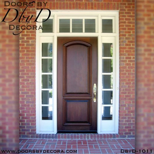 solid door front door unit