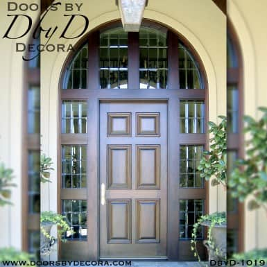 solid door sidelites and transom