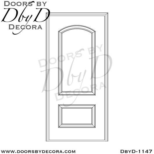 estate 2-panel wood door