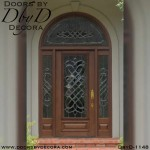 estate leaded glass radius entry