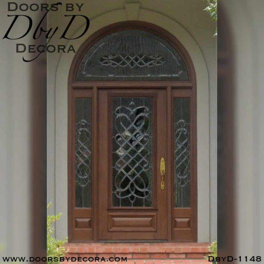 estate leaded glass radius entry