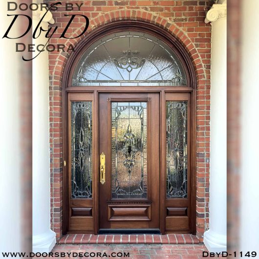 estate leaded glass exterior entry