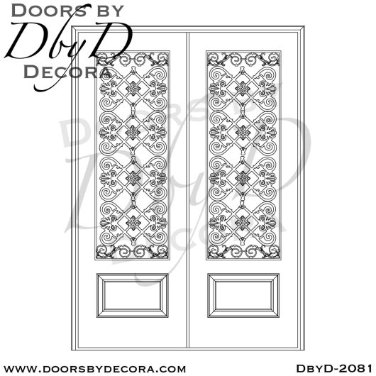 french country wrought iron door