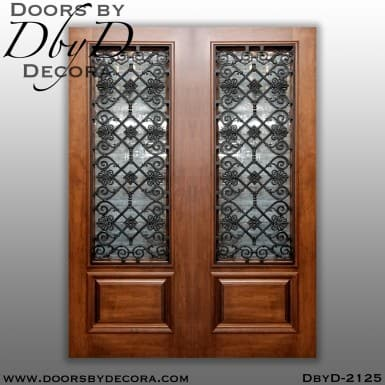 french country wrought iron double doors