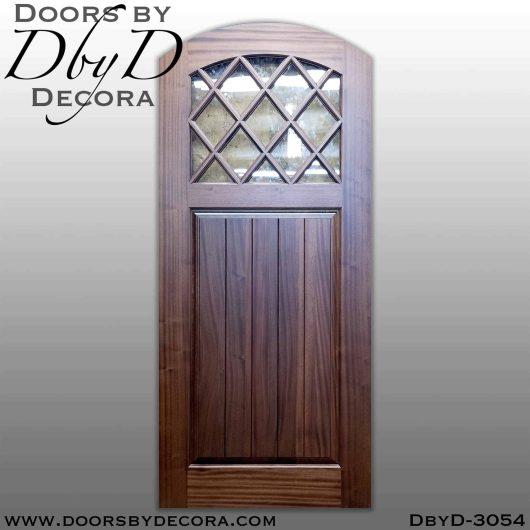old world diamond glass door