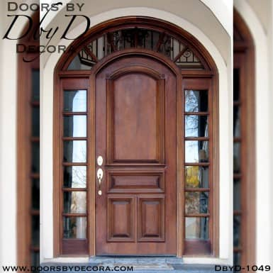 divided lite solid door with TDL sidelites