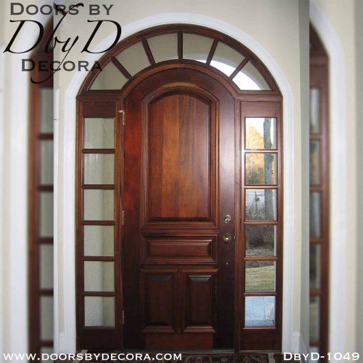 divided lite solid door with TDL sidelites