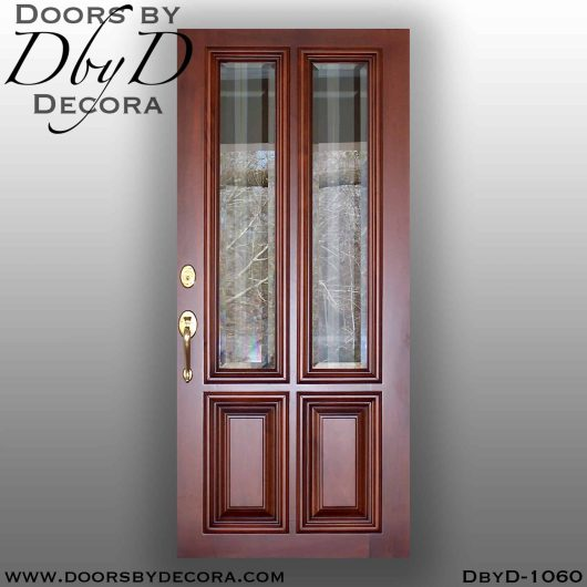 divided lite four panel wood door