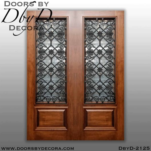 iron grill wrought iron double doors
